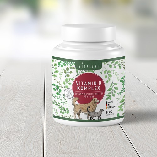 Pet supplement label design