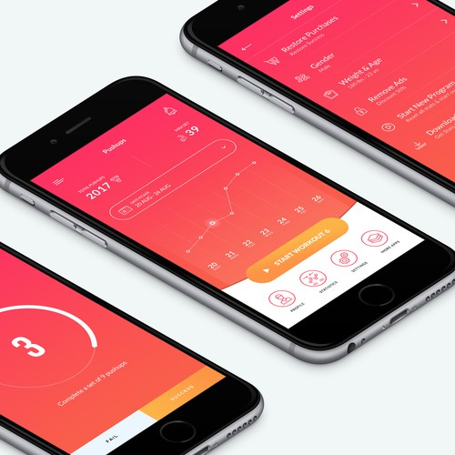 Beautiful Push-up App