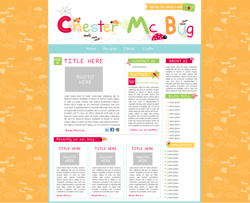 WordPress Design for Fun Site About Bugs