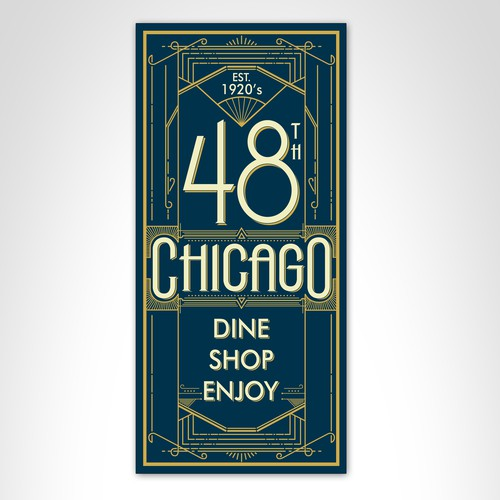 1920's Deco Influenced Banner Design