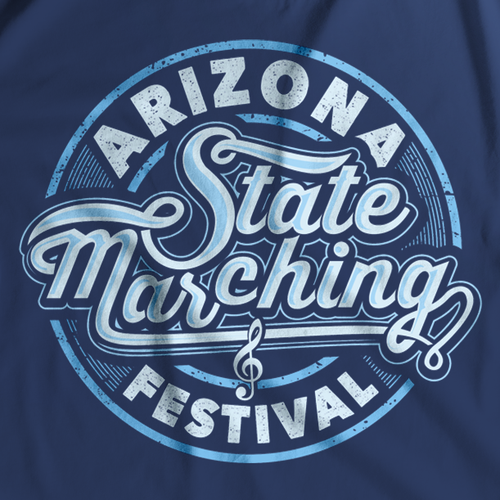 Marching Band Competition Shirt design, Simple, Fun, Colorful.