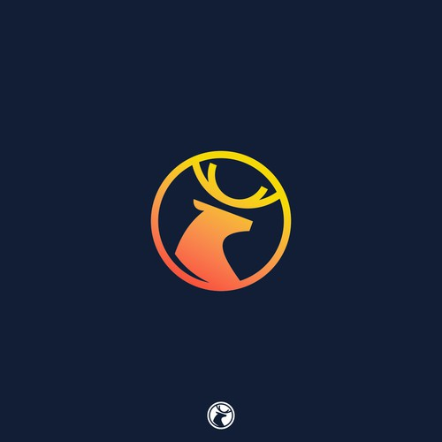 simple modern king deer logo