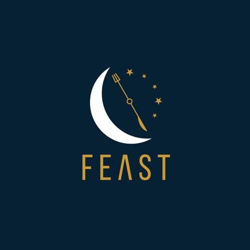 Night food delivery website logo.