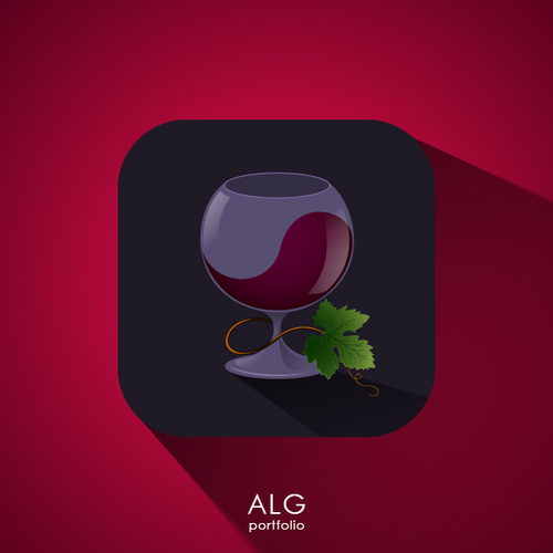 Wine app icon design