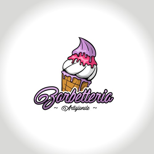 Sweet logo for Gelato shop