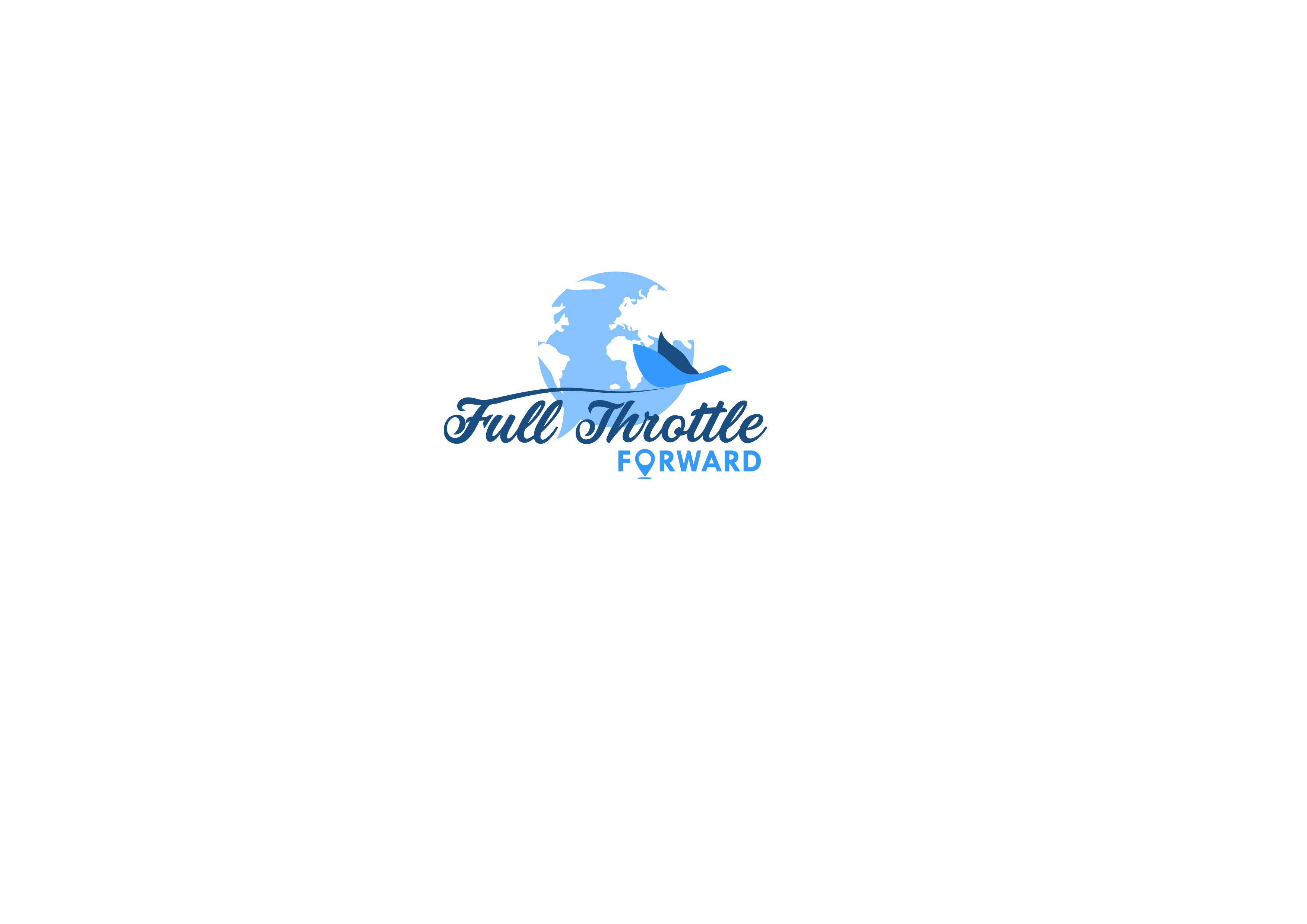 Design logo to empower readers of Full Throttle Forward that the'll be able to maximize travel