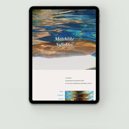 A website for poet Anna Morrison, California.