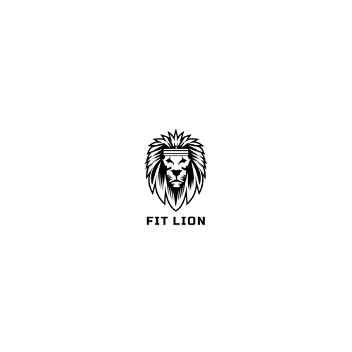Cool Lion logo for fitness