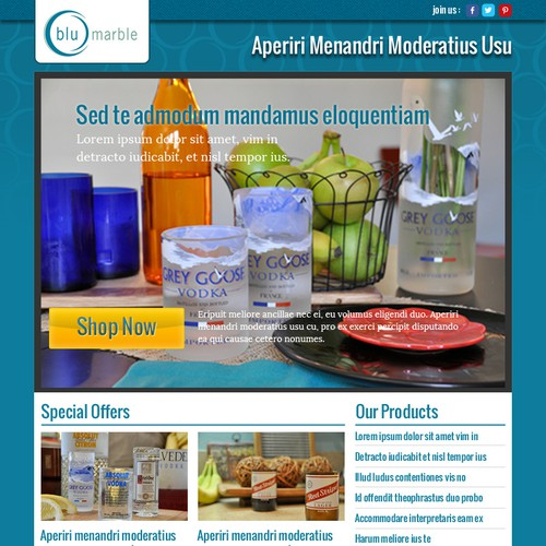 Fresh Email Newsletter Design for Glass Products