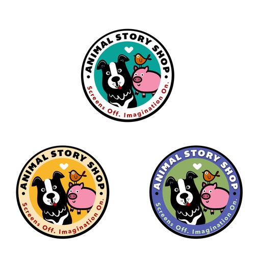 Animal shop fun logo