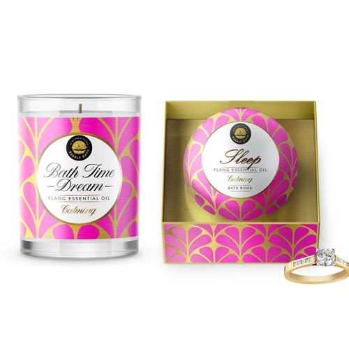 Bath Products Labels Design