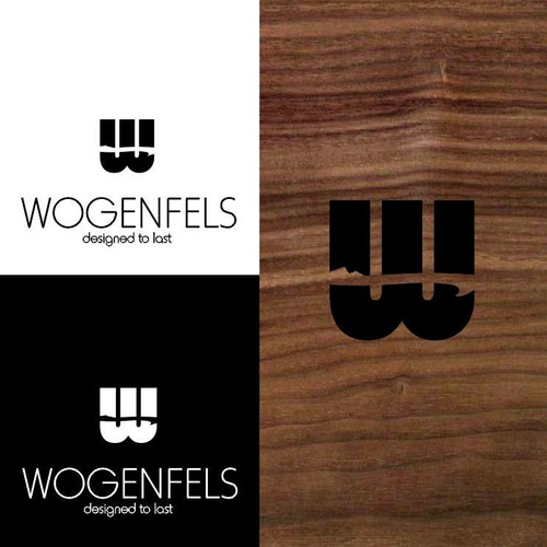 logo concept for wooden wallets