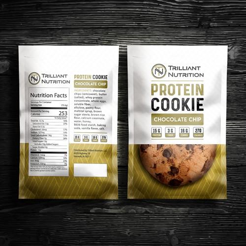 Protein Cookie Packaging design