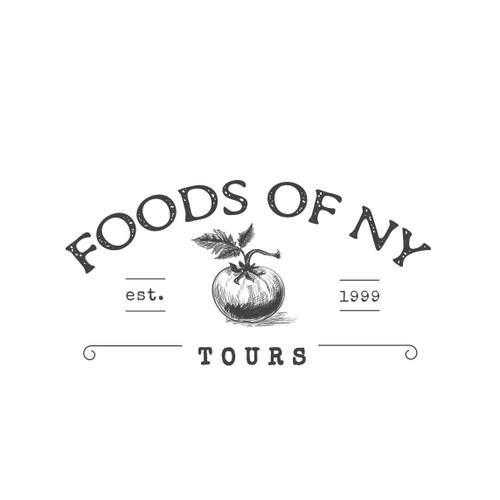 Logo design for a food tour company