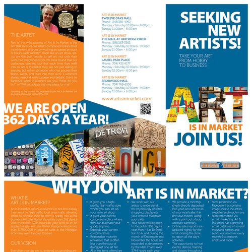 Brochure for Art Is In Market