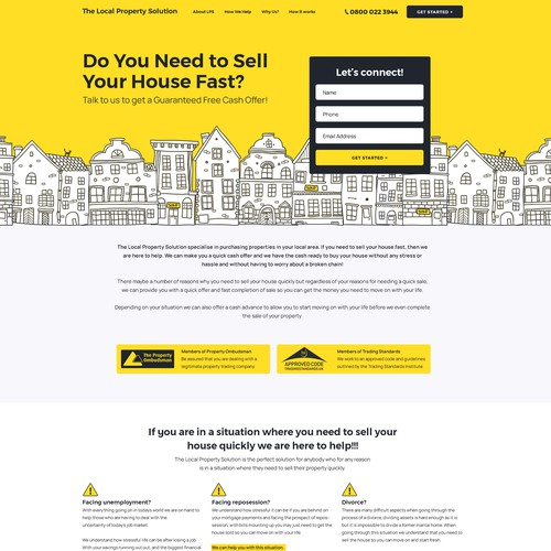 Bright and minimal Landing Page