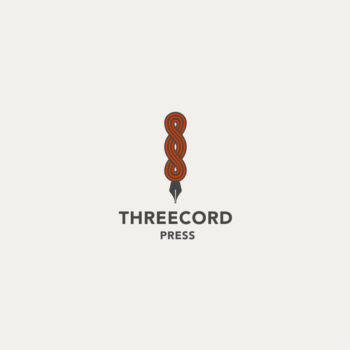 Logo for independent publishing house Three Cord Press