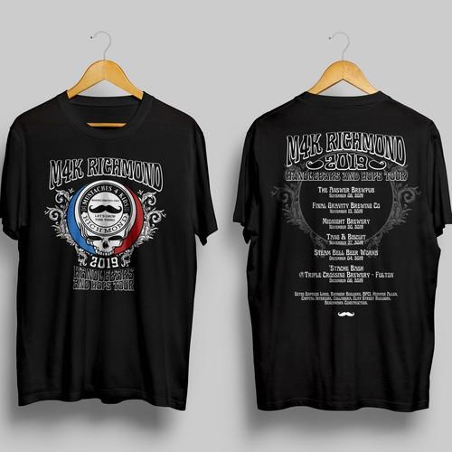 T-shirt design for M4K Richmond