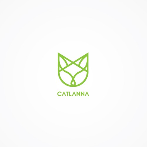 Minimalist/ geometric cat logo concept for behavior consulting service