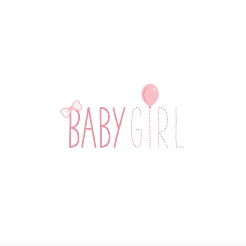 BabyGirl logo, for baby clothing company