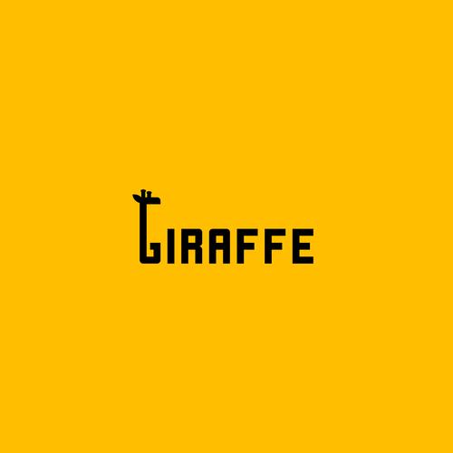 Bold logo concept for giraffe