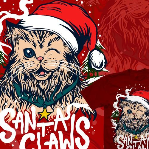 Santa Claws cute cat