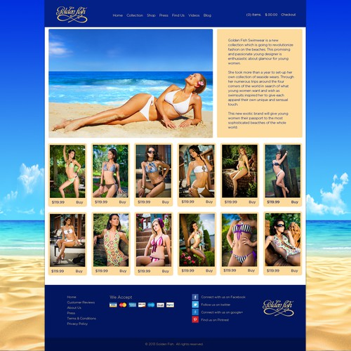 website design for Gold FIsh