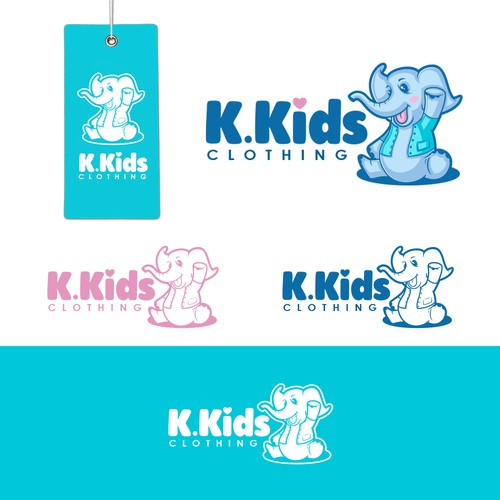 Logo for baby clothing company