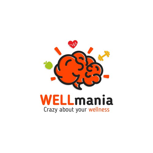 "Design a wellness logo with a Maniac / Fun slant ""WELL Mania"""