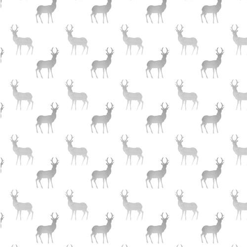 Seamless watercolor pattern with deer
