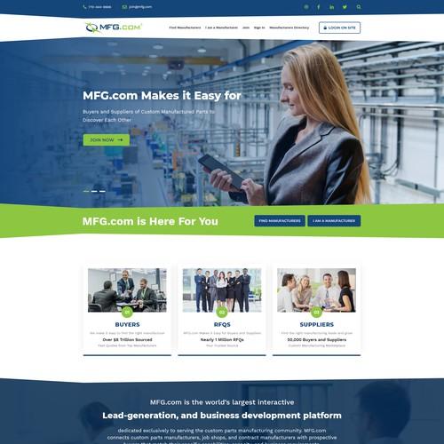 MFG Homepage Layout