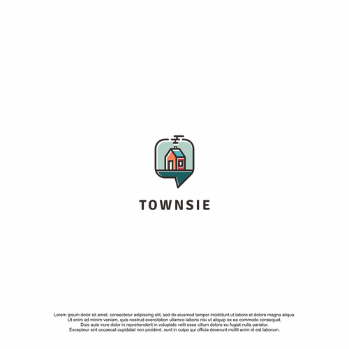 Flat Style Logo for Townsie