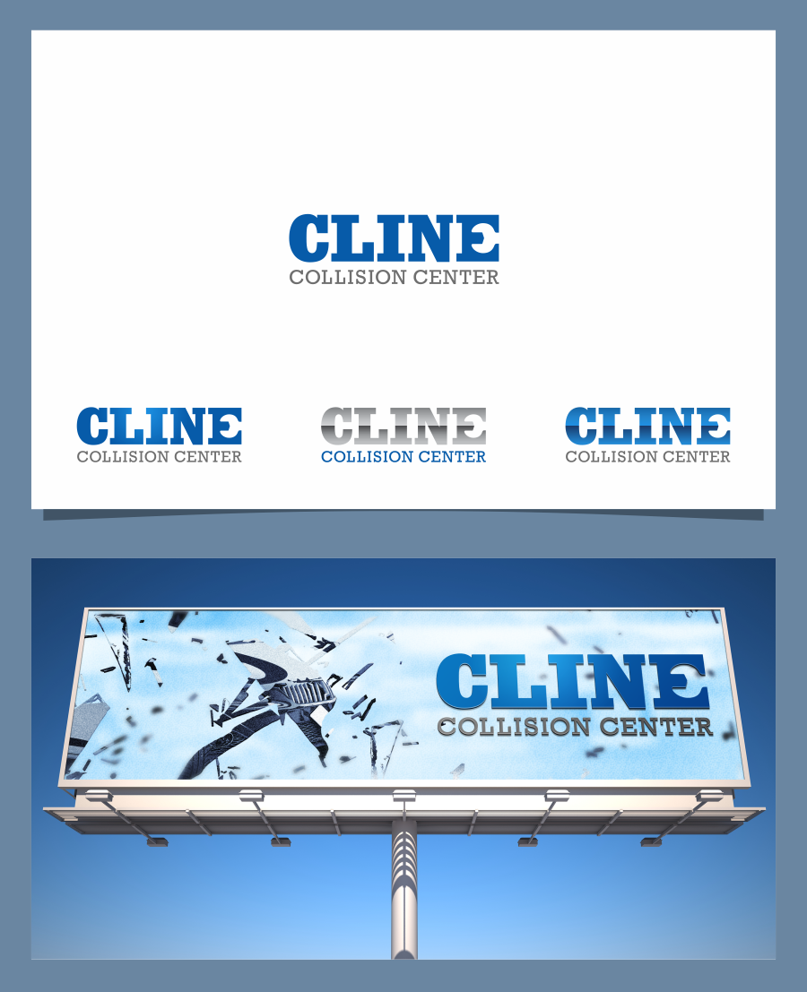 Create a noticable logo for Cline Collision Center