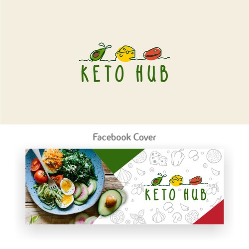 Logo and Social Media Cover/Background Concept for KetoHub