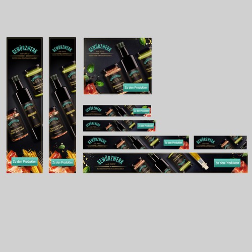 Product banners set