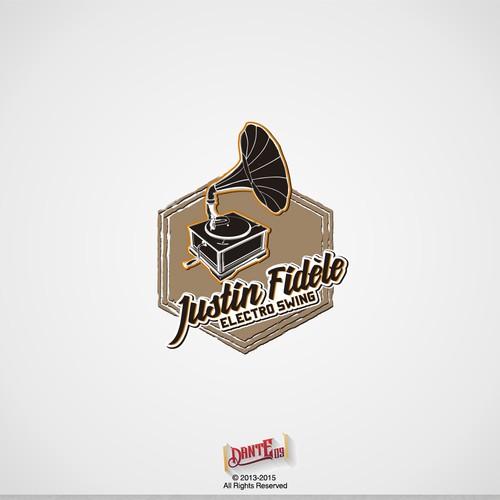 Classic Vintage Logo Concept for DJ