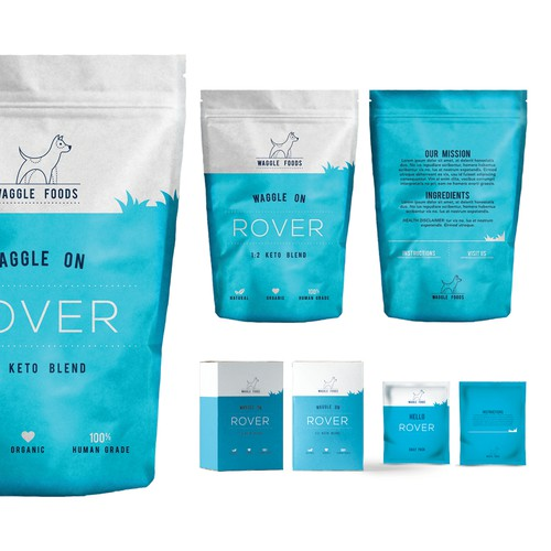 Modern Dog food packaging concept