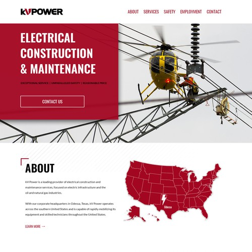 KV Power - Website Redesign
