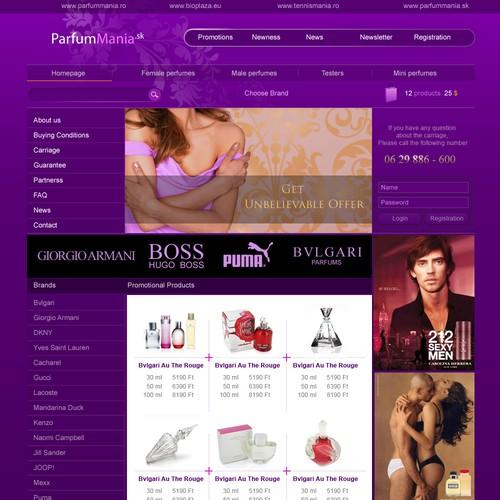 Perfume WEBSHOP design