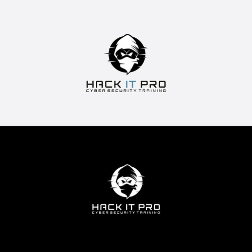 Design hacker themed logo for web based training environment