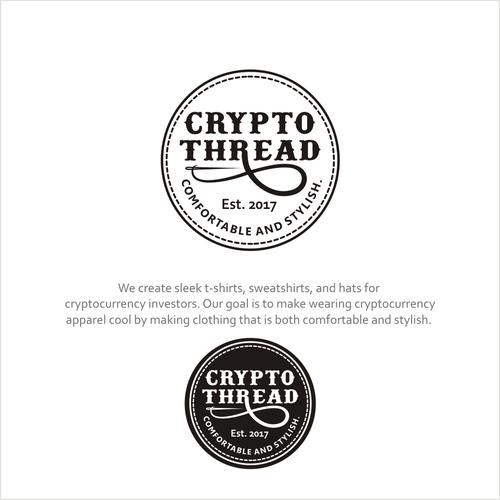 a modern logo for a clothing company, Crypto Thread