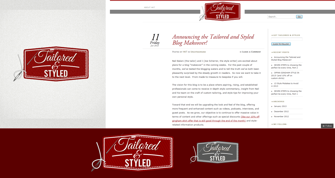 Create the next logo for Tailored and Styled