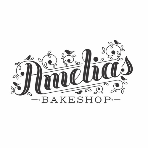 Logo and business card concept for Amelia's bakeshop