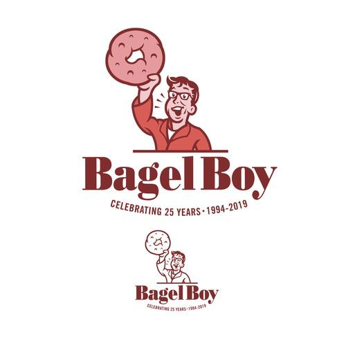 Bagel Boy 25th Anniversary Logo