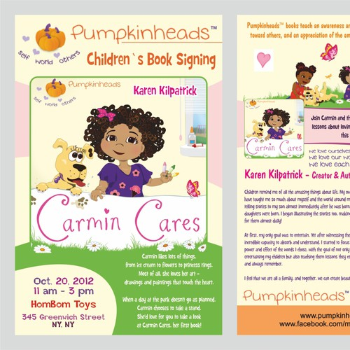 Create the next postcard or flyer for Pumpkinheads