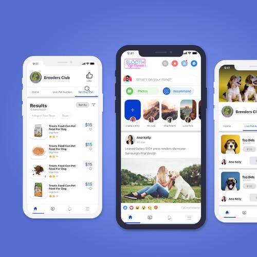Clean Social media app design