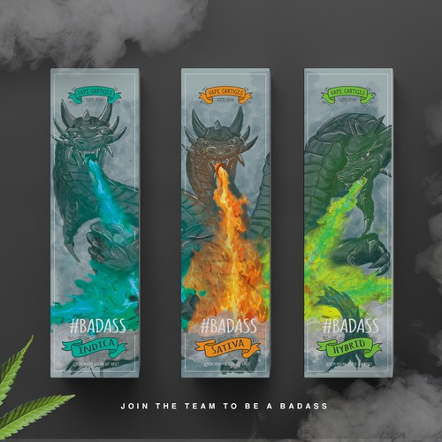Vape package design #badass