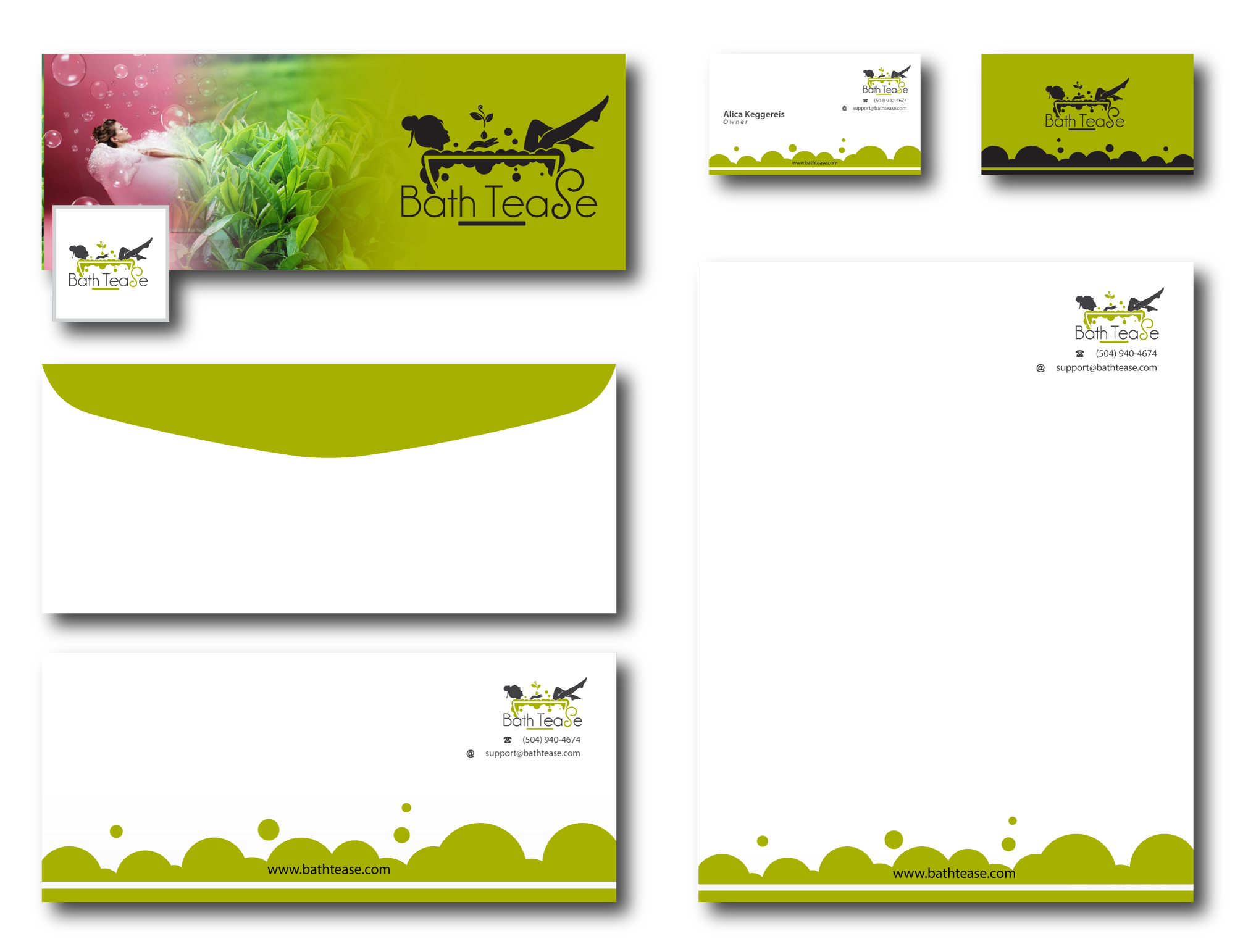 Create a Brand Identity Pack for new start up Bath Tease