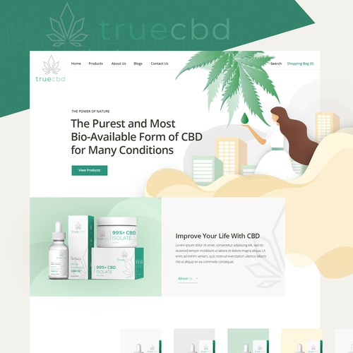 LET US STAND OUT FROM THE CROWD! Design & potential follow-up project for TrueCBD, a Cbd newcomer