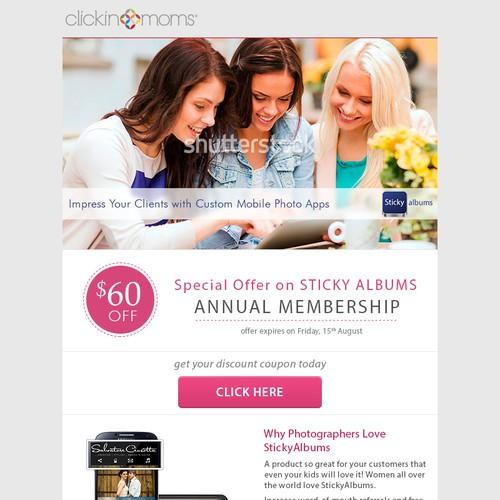 Marketing e-blast for successful tech photography company